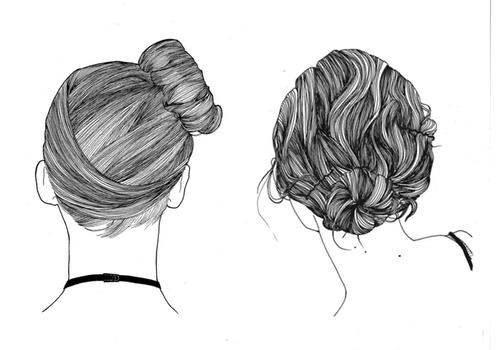 Drawn ballerine hair Hair Long for of Pinterest