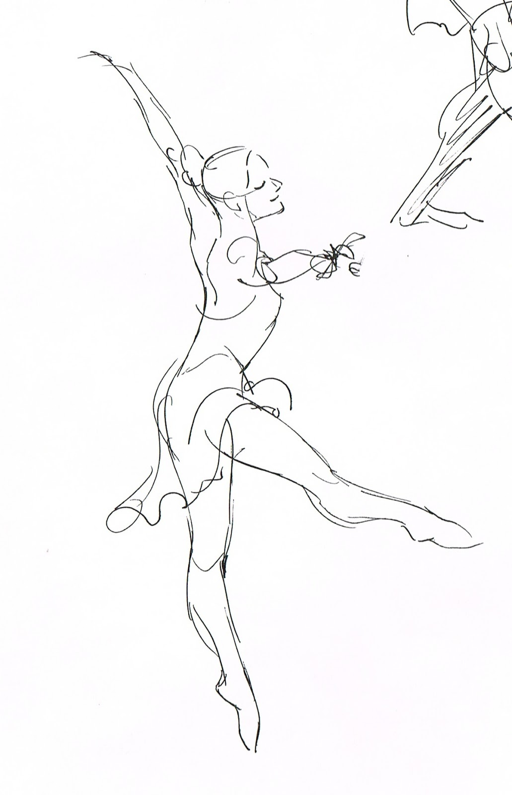 Drawn ballerine man easy Made sketching to recently Hand