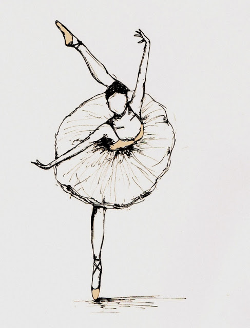 Drawn ballerina outline And of Outline a Pinterest