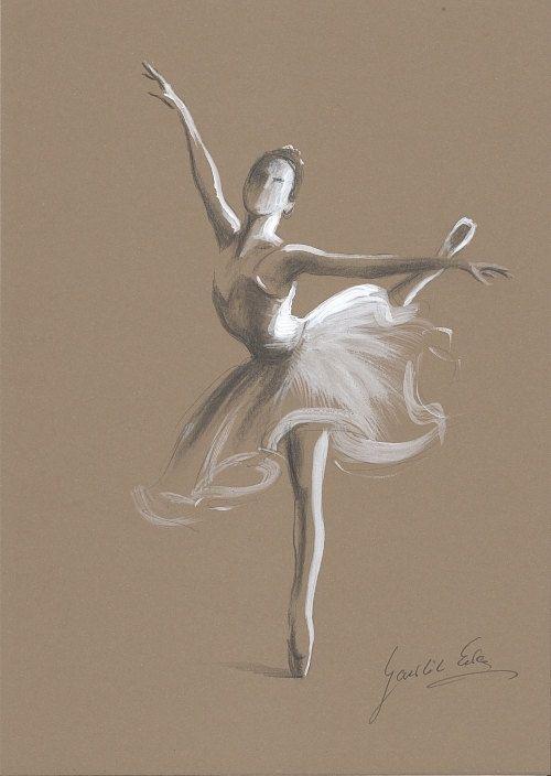 Drawn ballerina color $29 x pencil by 00