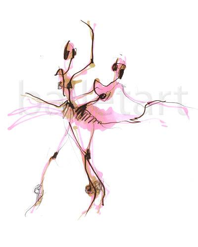 Drawn ballerina fashion illustration #4