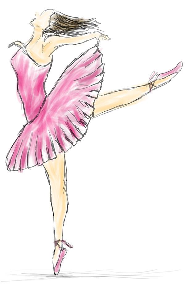 Drawn ballerina pink ballerina Behance Drawing on Ballerina