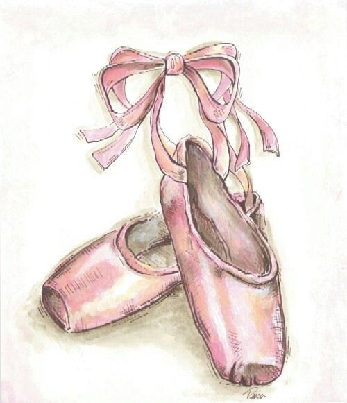 Drawn ballerina ballet slipper #2