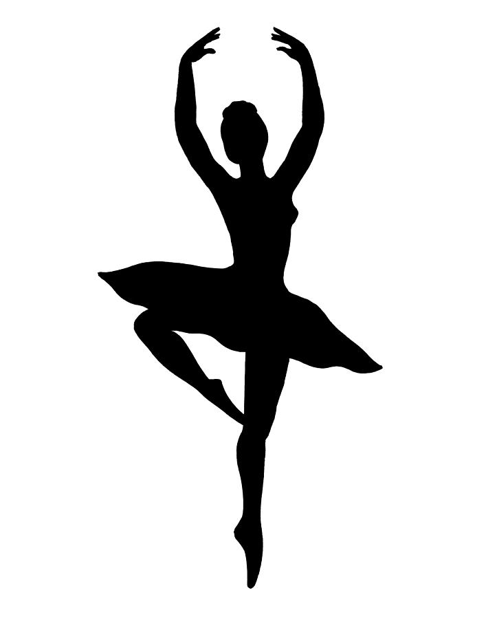 Drawn ballerina silhouette Painting Spinning Ballerina by Painting