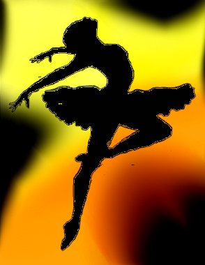 Drawn ballerina silhouette  drawing by a silhouette