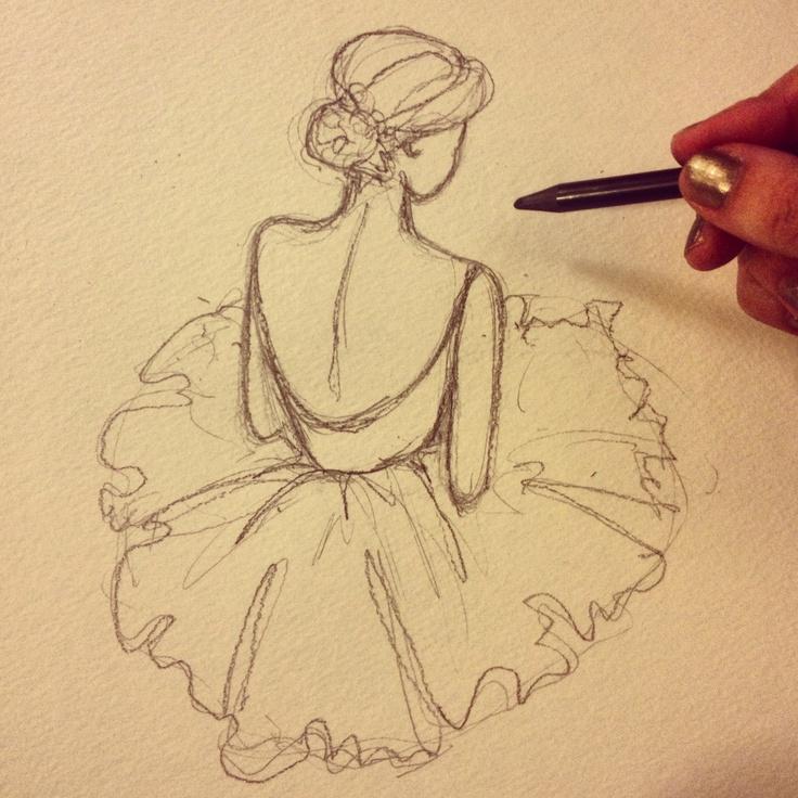 Drawn ballerine sketch Google Pinterest Dibujo Google Drawings