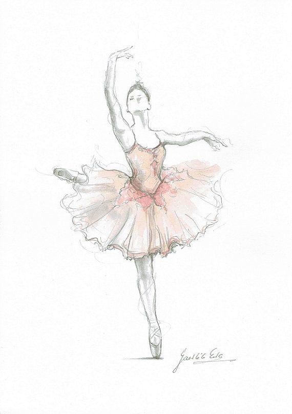 Drawn ballerine sketch Drawing Pinterest Ballerina sketch Print
