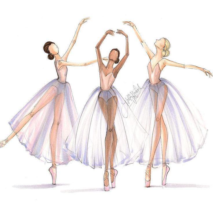 Drawn ballerine sketch Best trio Pinterest each 20+