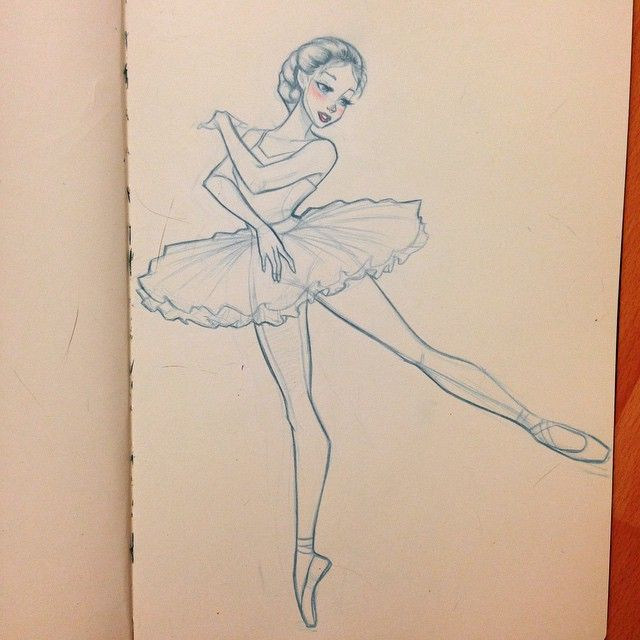 Drawn ballerine sketch A the ideas drawing ballerina