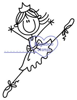 Ballerine clipart stick figure #1
