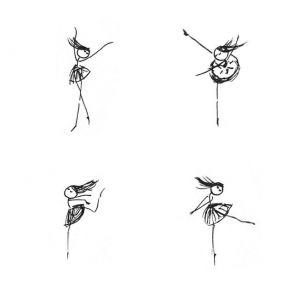 Ballerine clipart stick figure #3