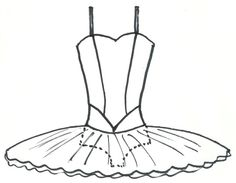 Drawn ballerine tutu Template Google Bunheads Search tutu