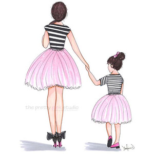Drawn ballerine tutu Ballerina Pink ballerina tutu Mother