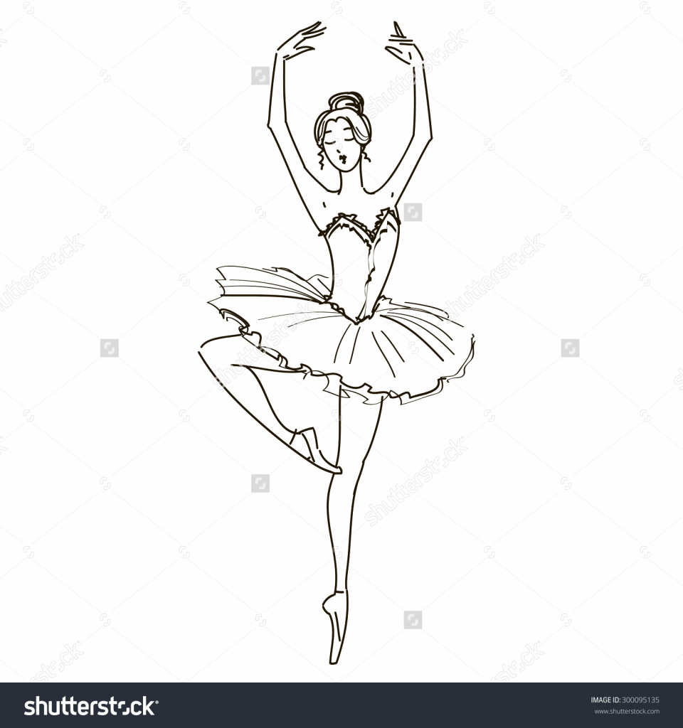 Drawn ballerine tutu To Drawing Black White White