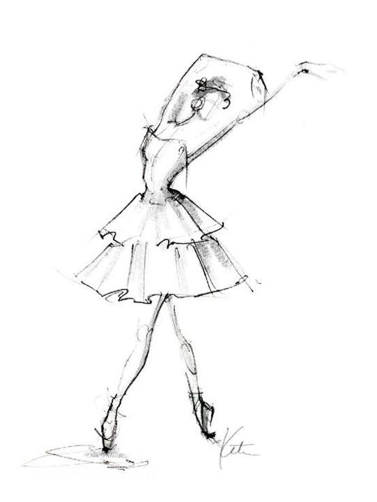 Drawn ballerine tutu Of kunst on tutu origin