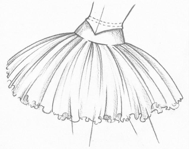 Drawn ballerine tutu #2