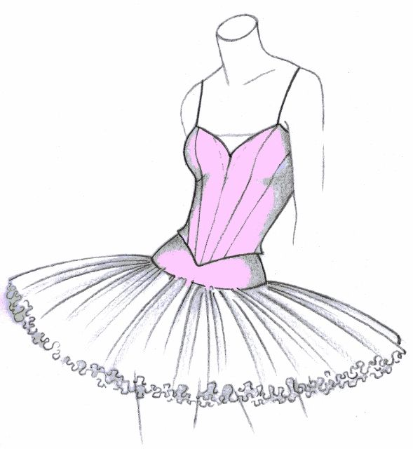 Drawn ballerine tutu Different 1018 TuTu Valorose of