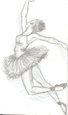 Drawn ballet Drawing ~Annie CREAM 1 pencil