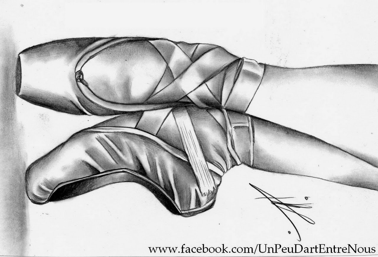 Drawn shoe background Shoes ballerina pointe drawing pointe