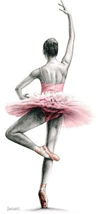 Drawn ballerina color And 1 Study 16