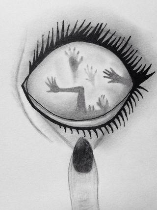 Drawn sad halloween Is my where eyes demons