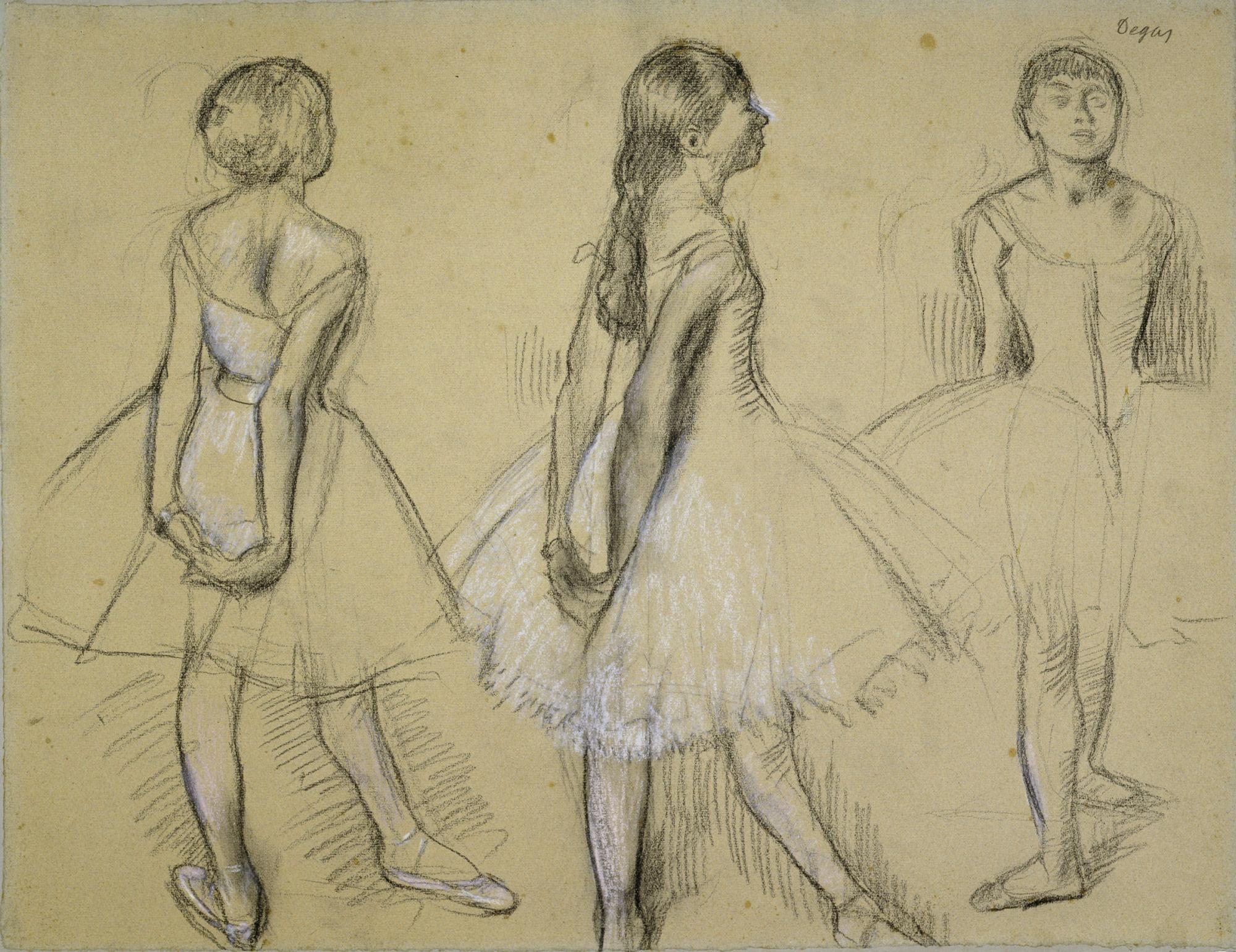 Drawn ballerina degas Www com Deborah Feller deborahfeller