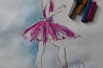 Drawn ballerina derwent inktense Step The blocks Derwent by