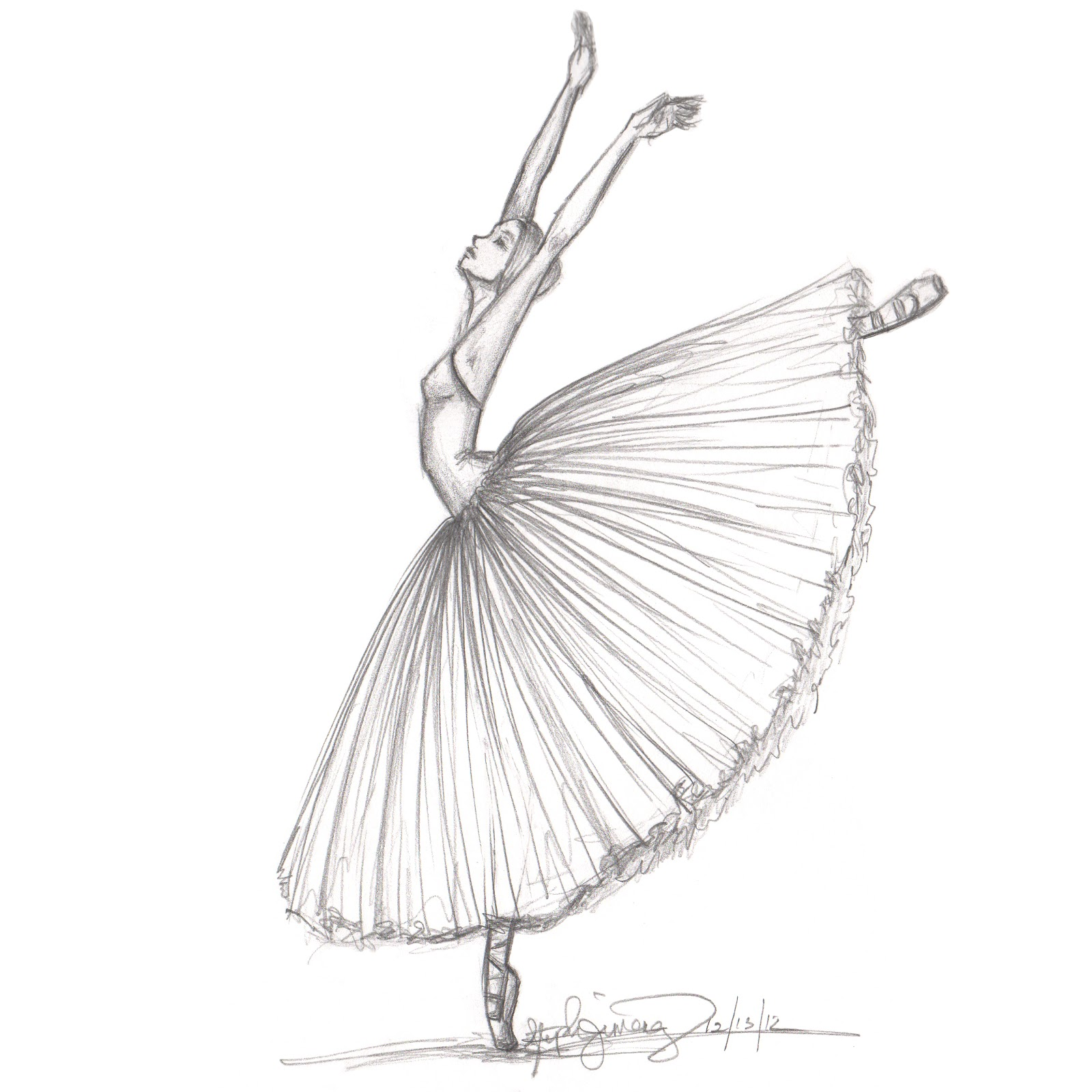 Drawn ballerina fashion illustration By Ballet inspired Fashion by