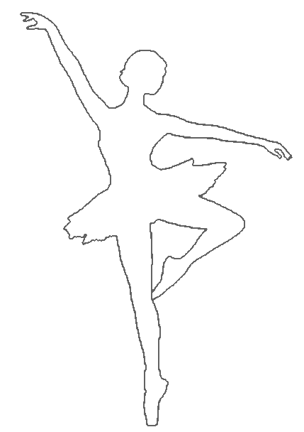 Drawn ballerina outline And Printables Paper Pinterest Searching