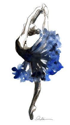 Drawn ballerina color Silhouette more this Silhouettes Ballerina