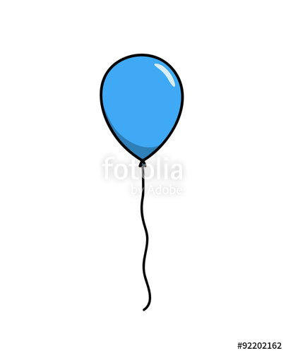 Drawn balloon