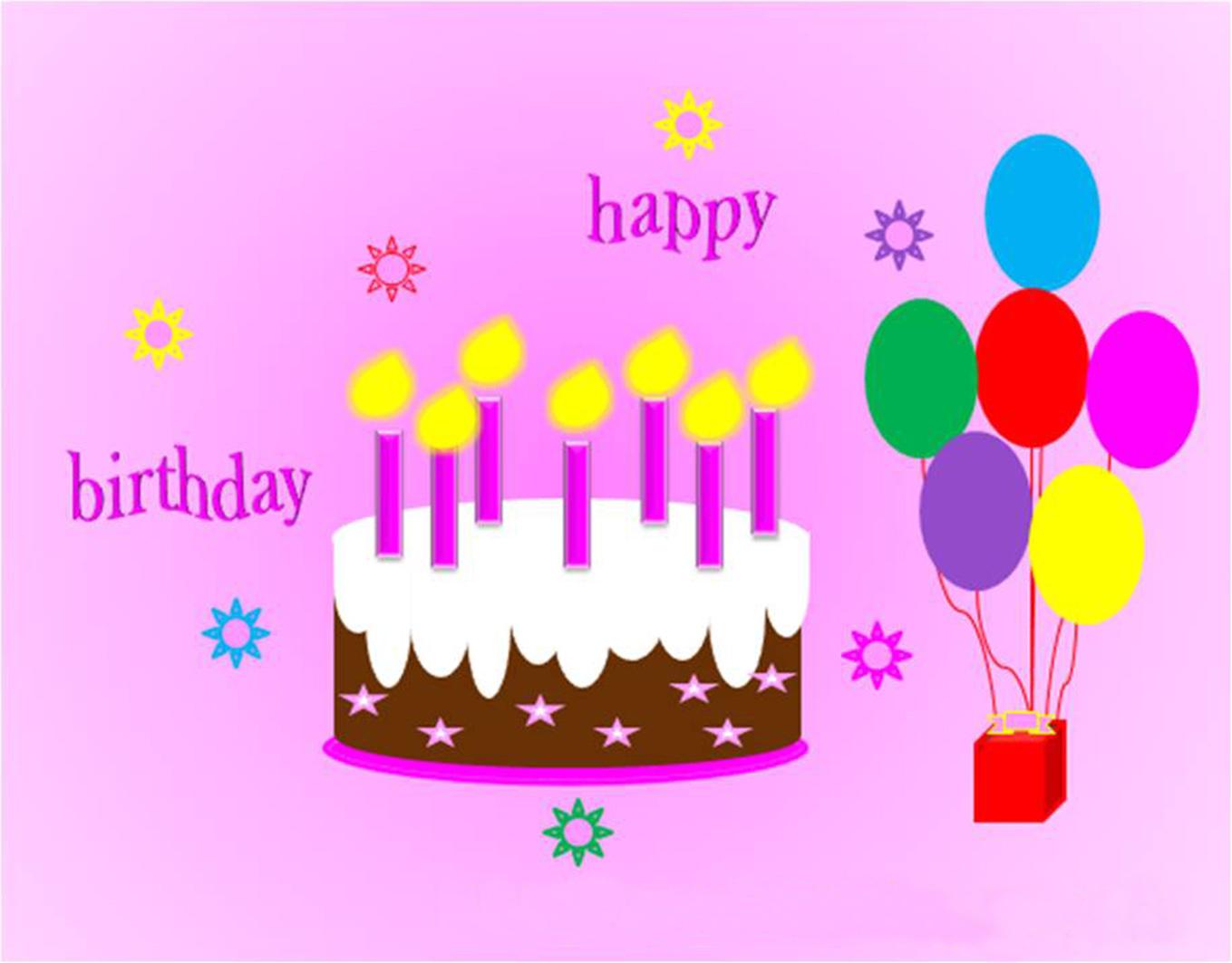 Drawn cake birthday greeting Birthday Happy Birthday Simple Background