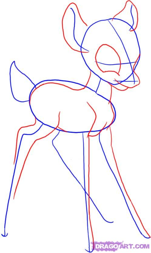 Drawn amd bambi By How Characters Draw how