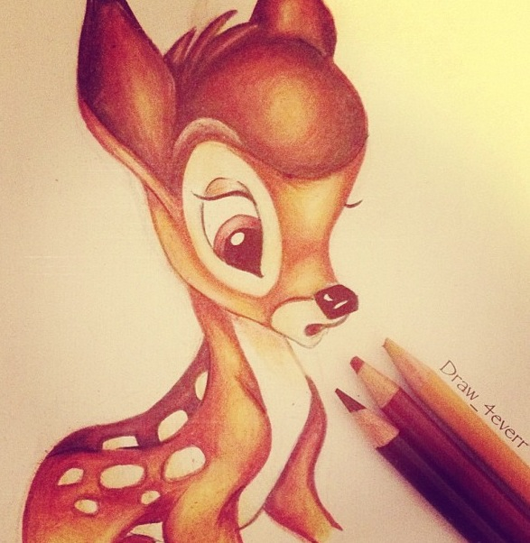 Drawn amd bambi Animation Drawings Finished Finished drawing