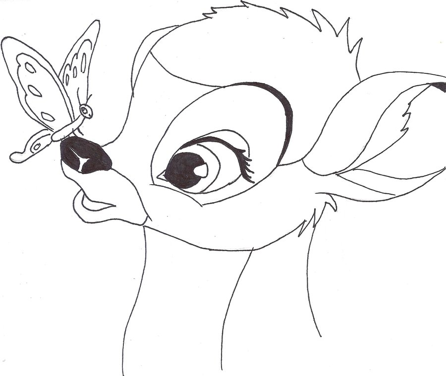 Drawn bambi By Bambi Moose on Rainbow