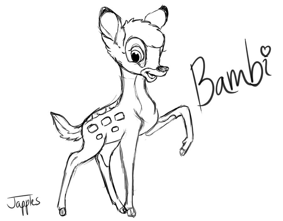Drawn bambi #7