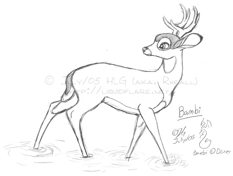 Drawn amd bambi Baby tried Bambi and hand
