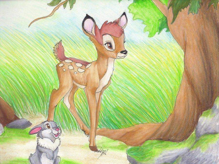 Drawn amd bambi Bambi Drawing  And Thumper