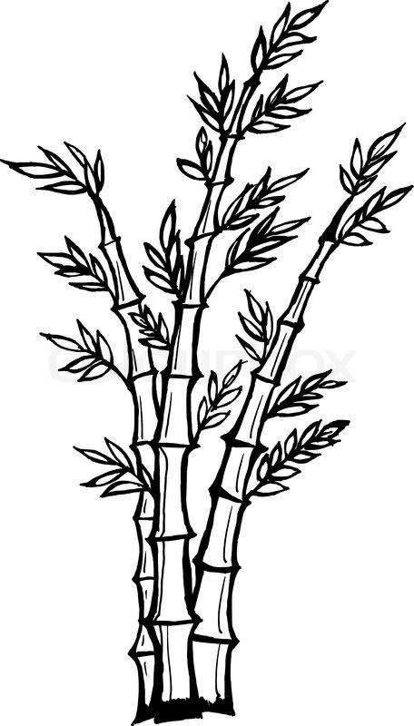Drawn bamboo Cartoon cartoon drawing vector 'Hand