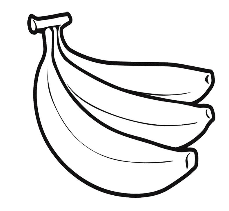 Banana clipart line drawing Download Great Coloring Banana Page