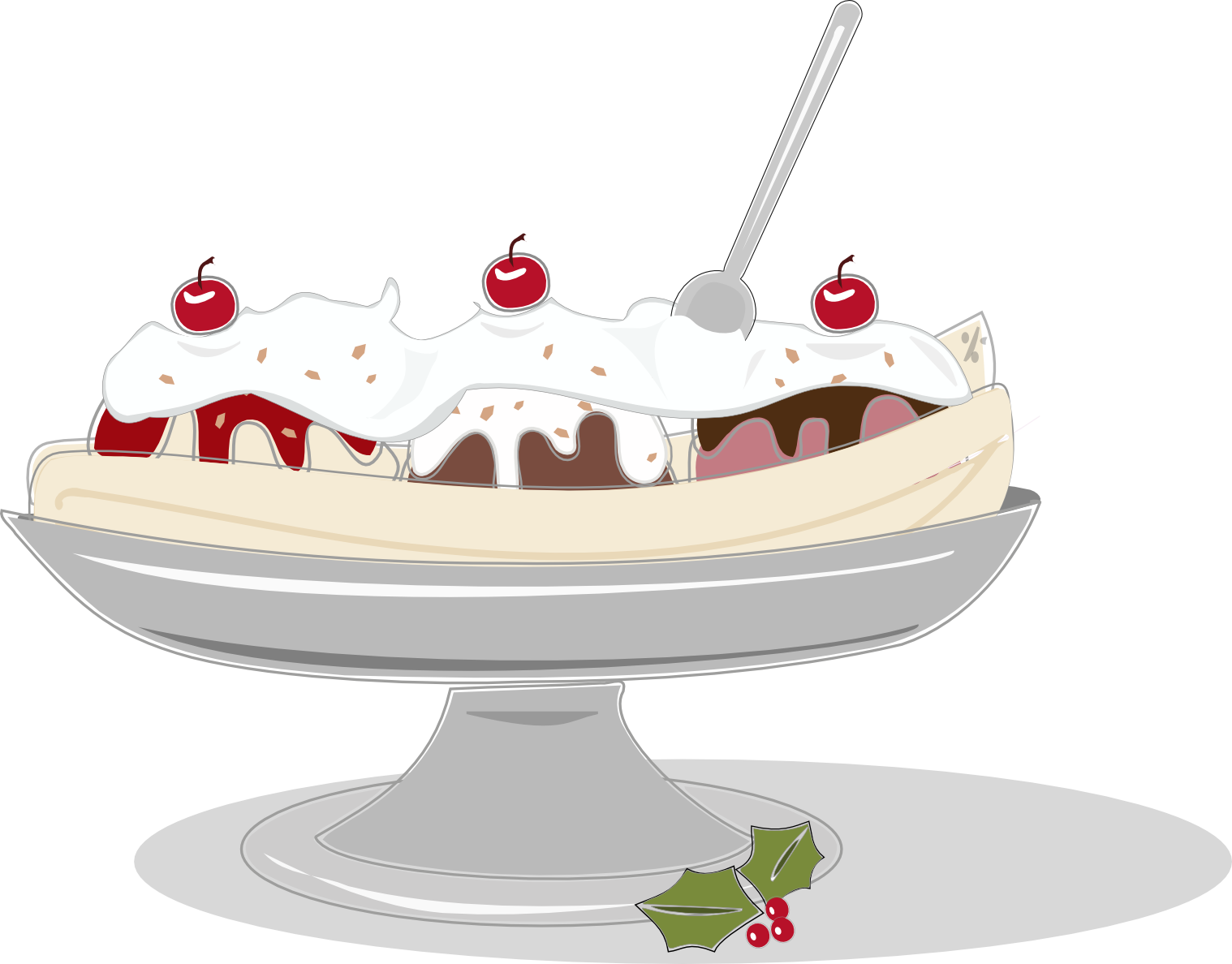 Banana Split clipart simple Free Split Eye Draw Split