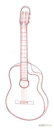 Drawn guitar illustration Guitar roll Electric  Music