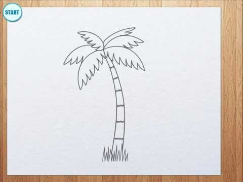 Drawn island black and white YouTube palm to draw How