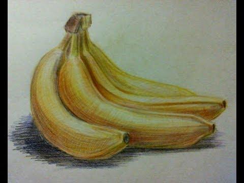Drawn still life vintage To banana? draw watercolor YouTube