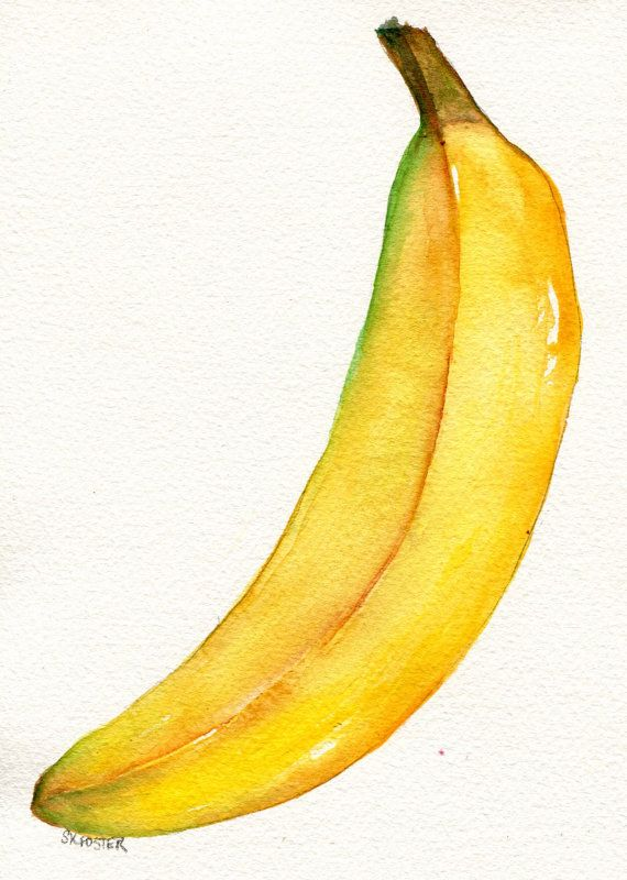 Banana clipart seven Painting BIG Best watercolor by