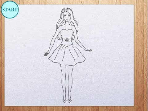 Drawn barbie How YouTube to Barbie draw