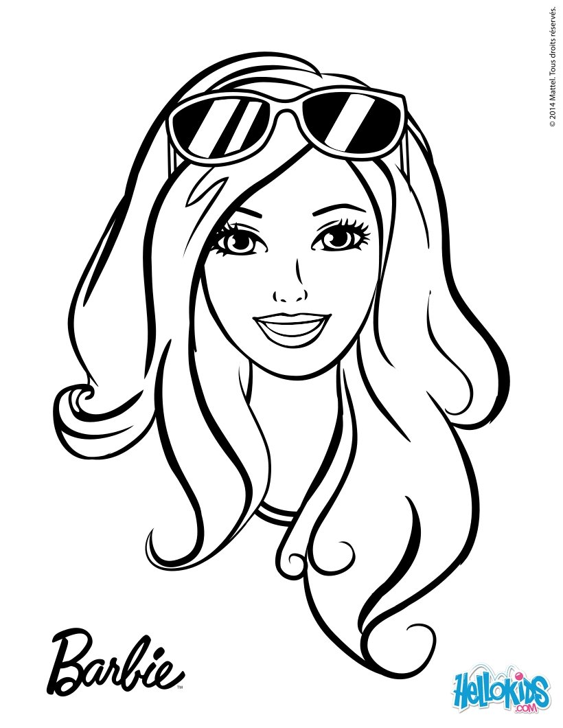 Drawn barbie Hellokids pages Barbie sun for
