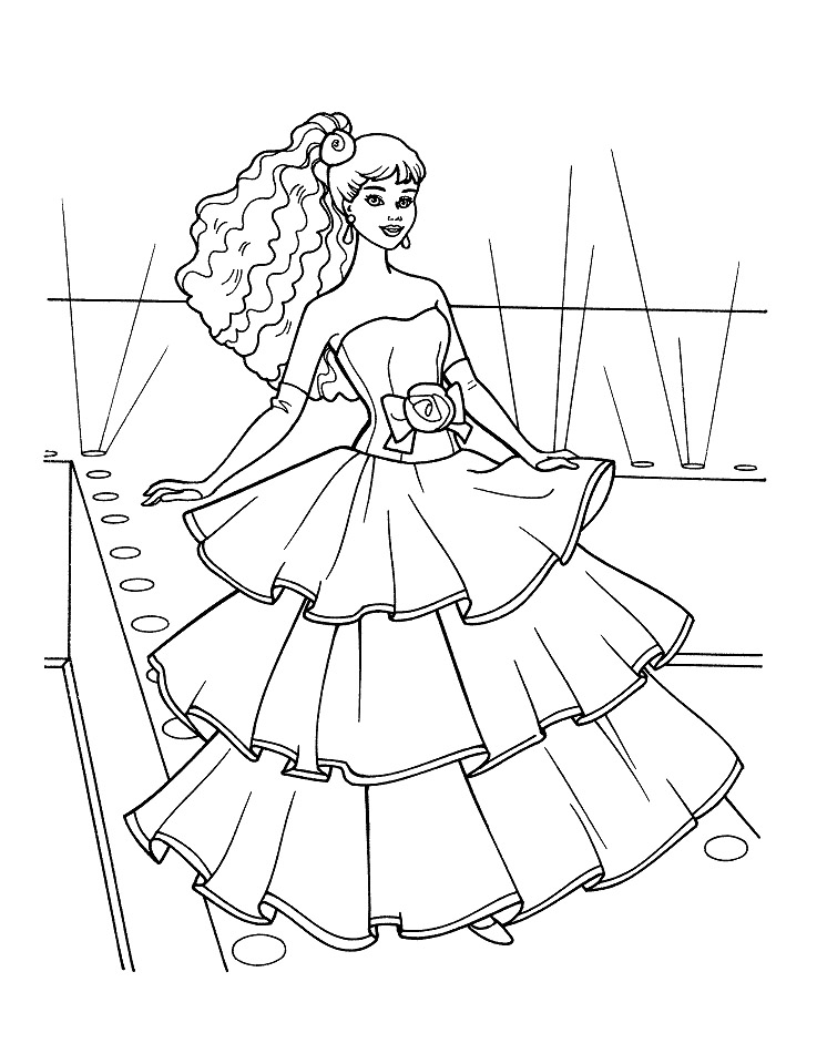 Drawn barbie barbie doll Doll Pages Barbie coloring doll