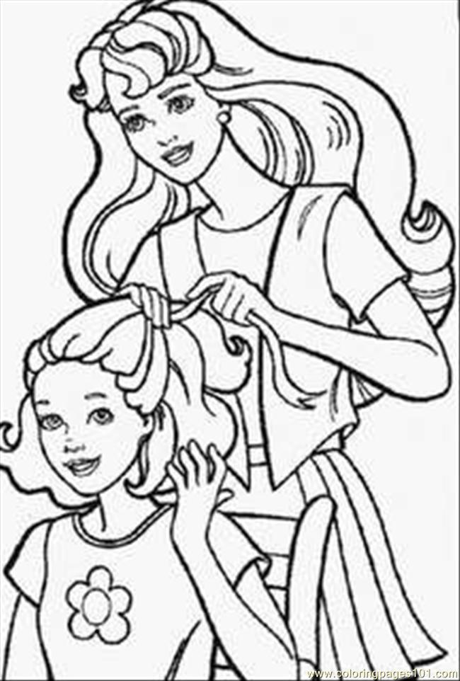 Drawn barbie barbie doll Doll Pages Barbie coloring barbie