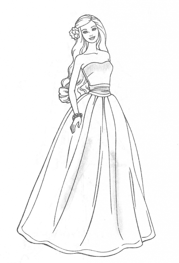 Drawn barbie barbie doll Pages Drawing Coloring jpg 1